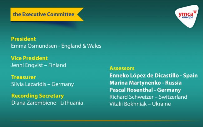 Vitaliy Bokhnyak has been elected a member of the Executive Committee of the YMCA Europe